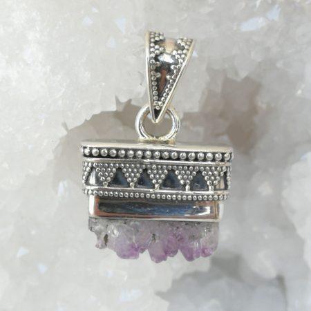 Amethyst Pure Energy Healing Crystal Pendant