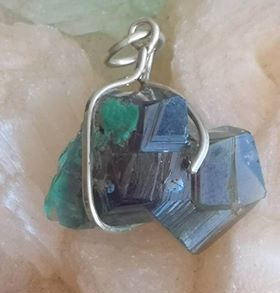 Green Fluorite Pure Energy Healing Crystal Pendant