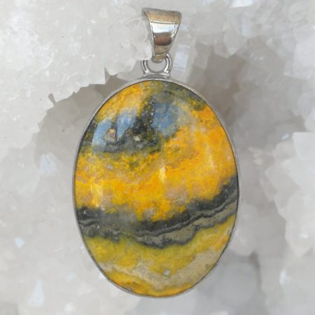 Japer Bumblebee Pure Energy Healing Crystal Pendant