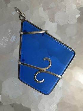 Siberian Blue Quartz Pure Energy Healing Crystal Pendant