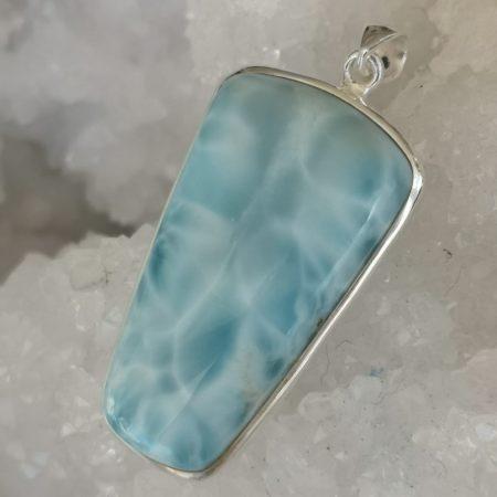 Larimar Pure Energy Healing Crystal Pendant