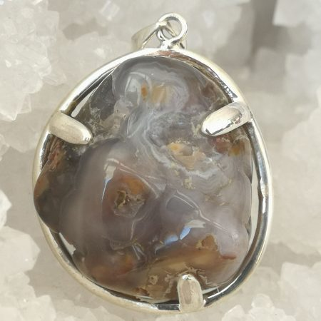 Fire Agate Pure Energy Healing Crystal Pendant