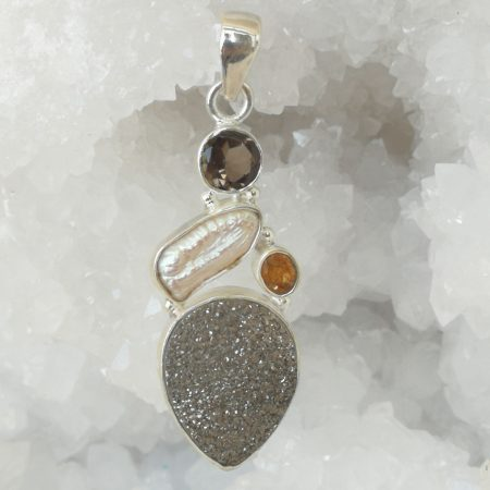 Druzy Pure Energy Healing Crystal Pendant