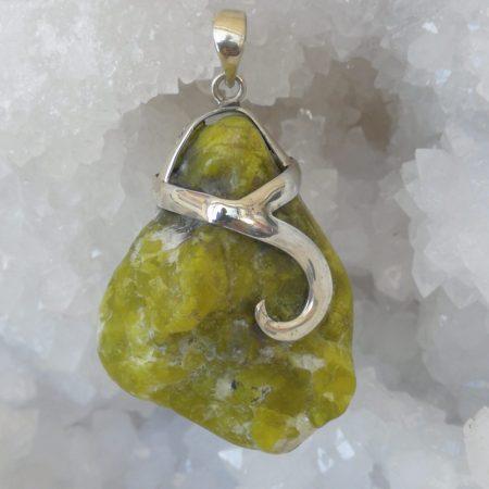 Lizardite Pure Energy Healing Crystal Pendant