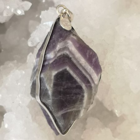 Chevron Healing Crystal Pendant in Sterling Silver Mark Bajerski