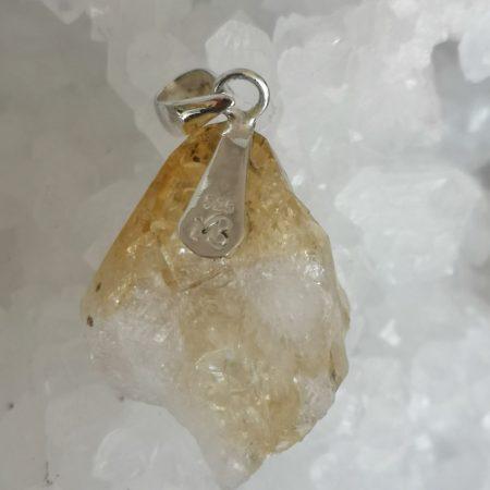 Citrine Healing Crystal Pendant in Silver Mark Bajerski
