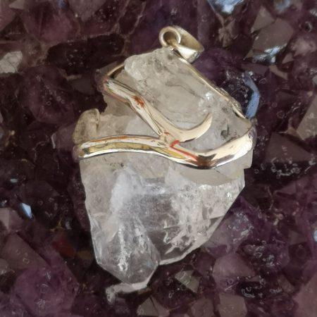 Faden Quartz Healing Crystal Pendant Mark Bajerski