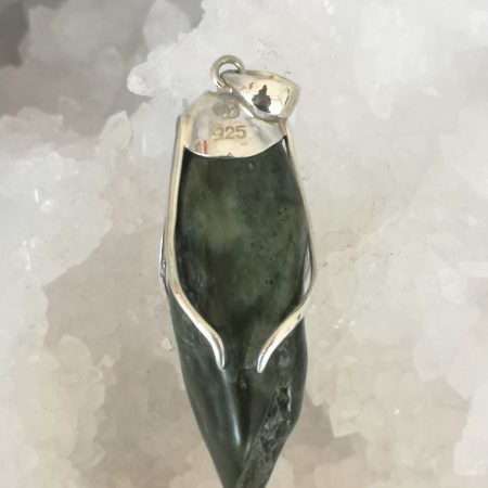 Jade Healing Crystal Pendant in Sterling Silver Mark Bajerski