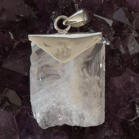 Pink Danburite Healing Crystal Pendant in Sterling Silver Mark Bajerski