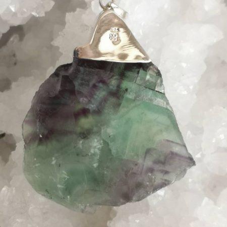 Large Fluorite Healing Crystal Pendant for Healers by Mark Bajerski 63.33 grams
