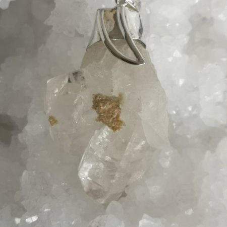Large Clear Quartz Healing Crystal Pendant by Mark Bajerski 85.79 grams