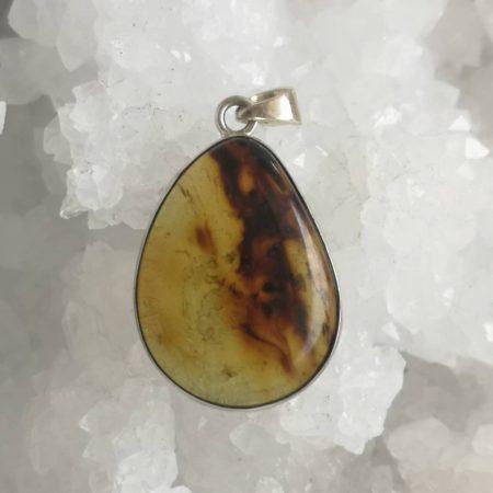 Amber Healing Crystal Pendant