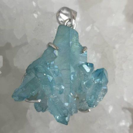 Aqua Aura Healing Crystal Pendant