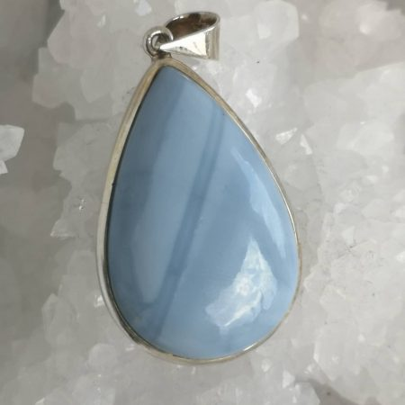 Blue Opal Healing Crystal Pendant