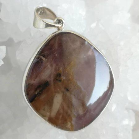 Dendrite Amethyst Healing Crystal Pendant