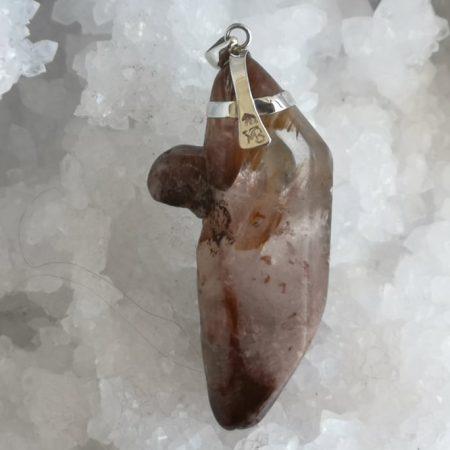 Fire Agate Healing Crystal Pendant design by Mark Bajerski