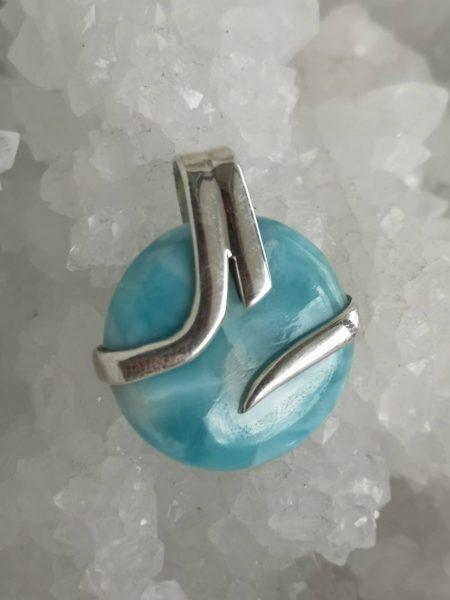 Larimar Healing Crystal Pendant