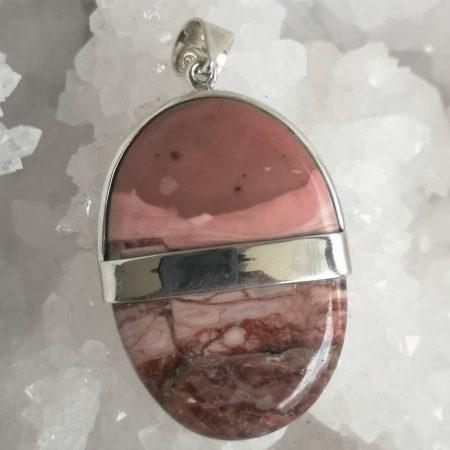 Pink Mookaite Healing Crystal Pendant