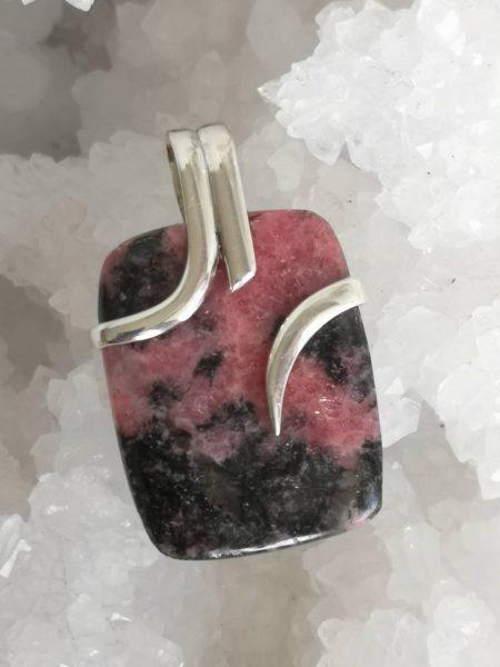 Rhodonite Healing Crystal Pendant