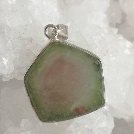 Watermelon Tourmaline Healing Crystal Pendant