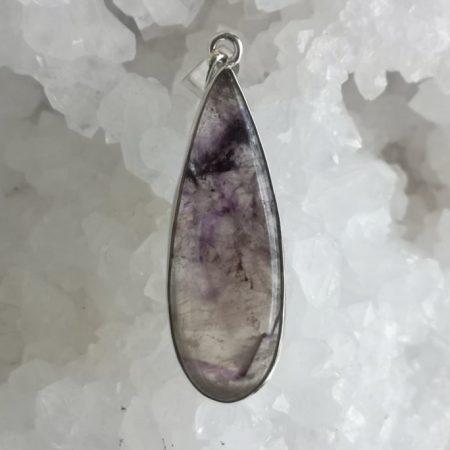 Blue John Healing Crystal Pendant