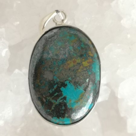 Chrysocolla Healing Crystal Pendant design by Mark Bajerski