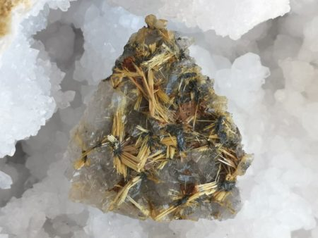 Golden Rutile Home and Holding Healing Crystal