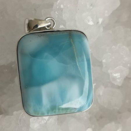 High Quality Larimar Healing Crystal Pendant design by Mark Bajerski