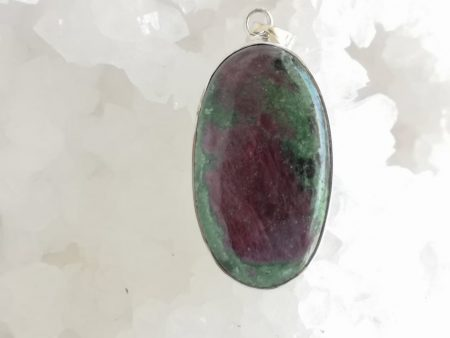 Ruby in Zoisite Healing Crystal Pendant