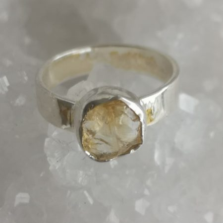 Citrine Healing Crystal Ring US Size 7.5