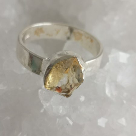 Citrine Healing Crystal Ring US Size 7