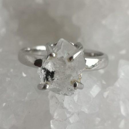 Herkimer Diamond Healing Crystal Ring US Size 7