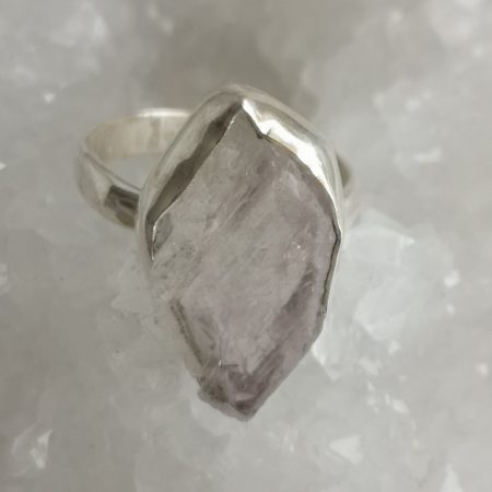 Rose Quartz Healing Crystal Ring US size 8.5