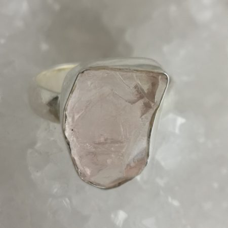 Rose Quartz Healing Crystal Ring US size 9.5