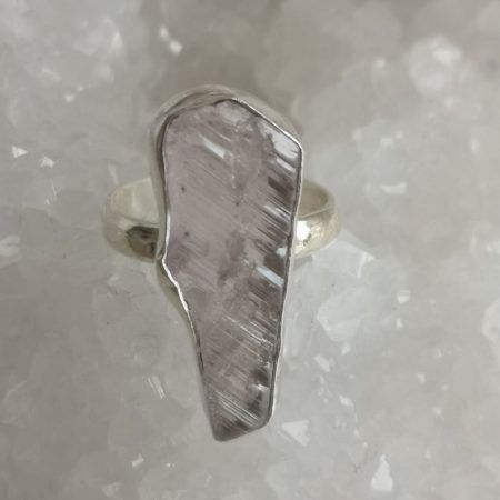 Rose Quartz Healing Crystal Ring US Size 7