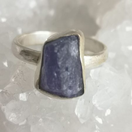 Tanzanite Healing Crystal Ring US Size 7.5