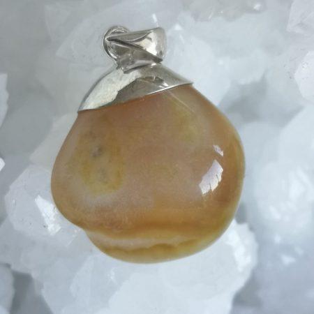 Branded Agate Healing Crystal Pendant design by Mark Bajerski