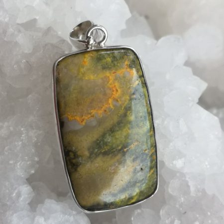 High Quality Jasper Bumblebee Healing Crystal Pendant design by Mark Bajerski