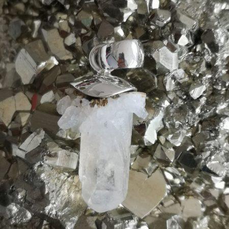 Clear Quartz Healing Crystal Pendant design by Mark Bajerski