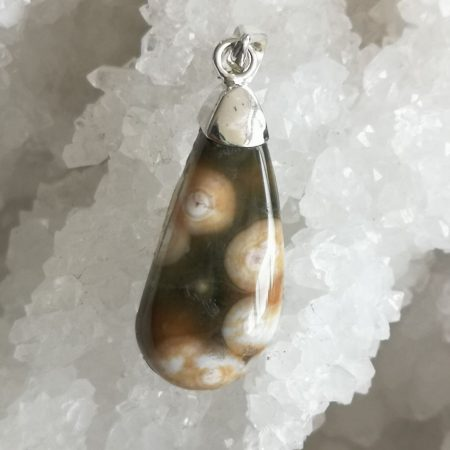 Ocean Jasper Healing Crystal Pendant design by Mark Bajerski