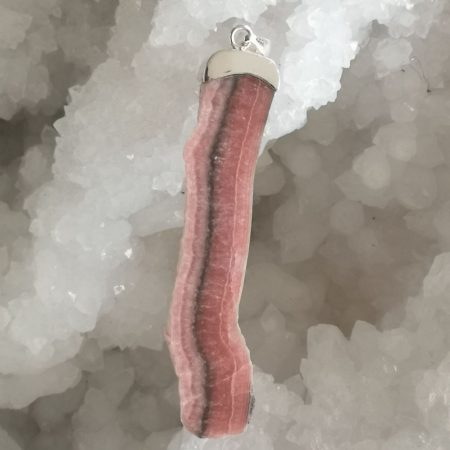 Rhodochrosite Healing Crystal Pendant design by Mark Bajerski