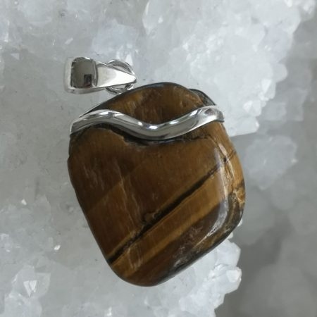 Tigers Eye Healing Crystal Pendant design by Mark Bajerski