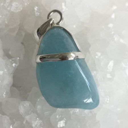 Blue Beryl High Quality, Healing Crystal pendant design by Mark Bajerski