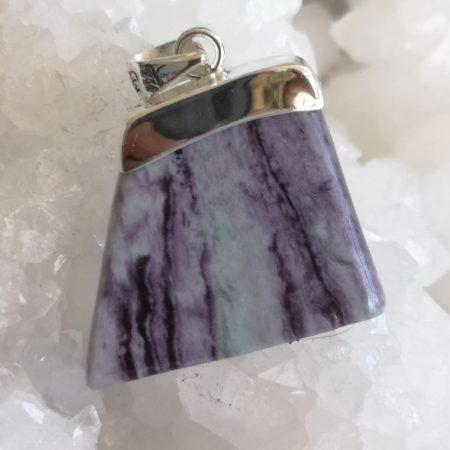 Kammererite Healing Crystal Pendant by Mark Bajerski
