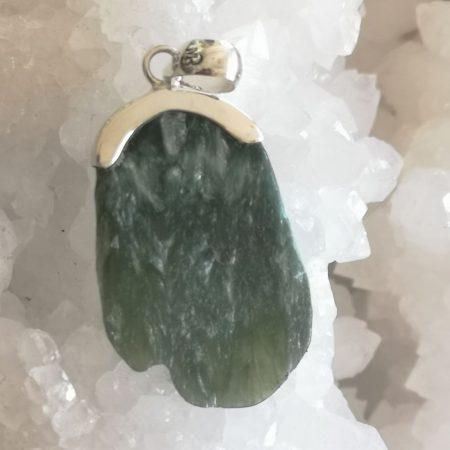 Seraphinite Healing Crystal pendant design by Mark Bajerski