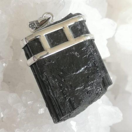 Black Tourmaline Healing Crystal pendant design by Mark Bajerski