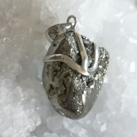 Pyrite Healing Crystal Pendant design by Mark Bajerski