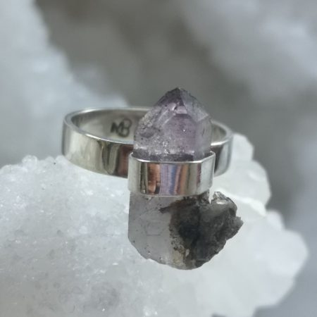Amethyst Healing Crystal Ring design by Mark Bajerski US Size 7.5