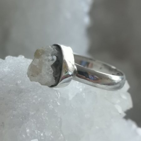 Clear Quartz Healing Crystal Ring design by Mark Bajerski US Size 7.5