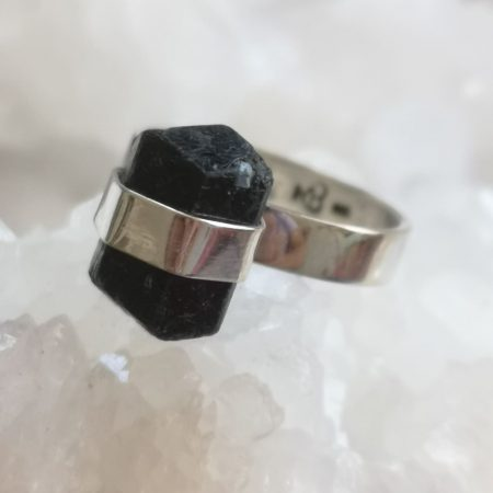Tourmaline Healing Crystal Ring design by Mark Bajerski US Size 8.5